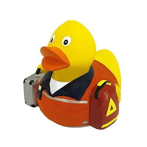 Mein Zwergenland Quietsche-Ente Quietscheente Badeente Bath Duck Rettungssanitäter