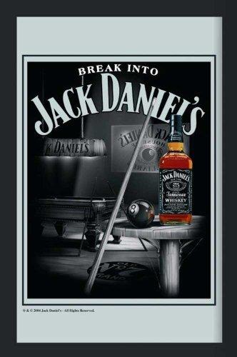 empireposter - Jack Daniels - Billiard - Größe (cm), ca. 30x40 - Maxi-Spiegel, NEU - Beschreibung: - Bedruckter Wandspiegel mit schwarzem Kunststoffrahmen in Holzoptik -