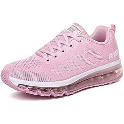 Smarten Zapatillas de Running Hombre Mujer Air Correr Deportes Calzado Verano Comodos Zapatillas Sport Pink 37 EU