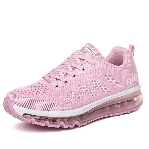 smarten Scarpe Uomo Donna Running Estive Air Scarpe Sportive per Ginnastica Fitness Corsa Walking Sneakers Pink 37 EU