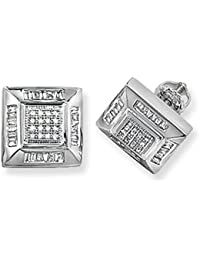 9ct White Gold 0.53ct Diamond Square Stud Earrings
