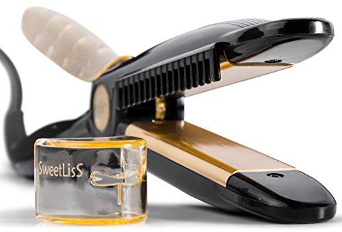 SweetLisS - Lisseur Libellule - Fer à lisser et à boucler avec Peigne intégré.