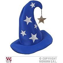Cappello da mago blu con stelle