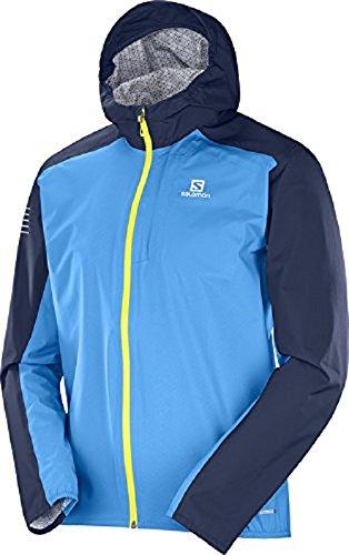 1b41c47c21 Salomon, Veste de Sport pour Homme, Bonatti WP, Mélange synthétique, Bleu (