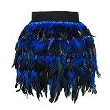 Luckycat Damen Feder Rock Karnevalkostüm Elastische Taille Party Minirock Mini Elastischer Bund A-Line Röcke für Halloween Weihnachten für Frauen Mädchen