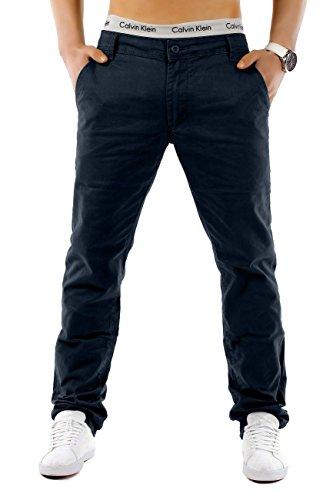 Uomo Chinos MC Trendstr diritto adatto (vari colori) Blu scuro