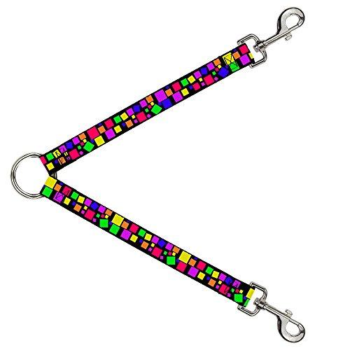 buckle-down dls-w31932-w Leine splitter-squares schwarz/multi Farbe, 3,8cm W-30