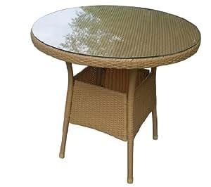Gartentisch balkontisch rund rattantisch for Beistelltisch 80x80