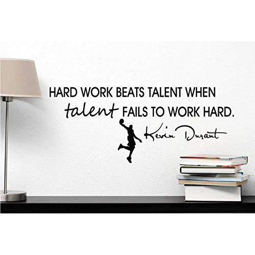 Harte Arbeit schlägt Talent, wenn Talent nicht hart arbeitet Kevin Durant inspirierte Vinyl Wall Decal 57 * 25cm