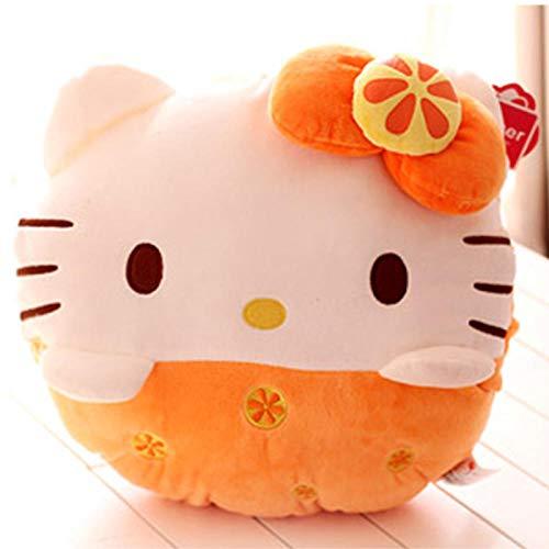 yfkgh Hellokitty Handwärmerkissen, kt Katzenkissen, Winterhandschellen, Hello Kitty Puppe, können in das Kissen Mädchen eingesetzt Werden@Orange (rund)_30cm oder so (Spielzeug Hello Kitty Plüsch Puppe)