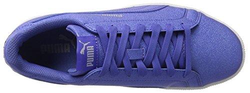 Puma Smash Glitzsl Jr, Sneakers Basses Mixte Enfant Bleu (Baja Blue-baja Blue)