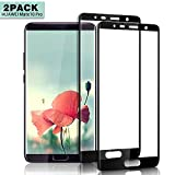 Nutmix Huawei Mate 10 Pro Screen Protector, [2Pack] HD Clear Premium Tempered Glass Film, Bubble Free, 9H Hardness, Anti-Shatter, Anti-Fingerprint, Easy-Installation, for Huawei Mate 10 Pro - Black