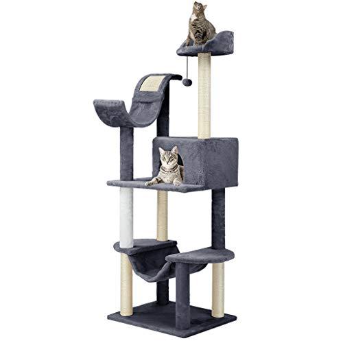 Finether-Árbol para Gato con Rascador Casitas para Gatos Juguete de S