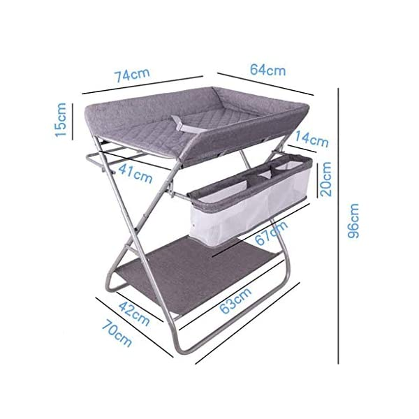 QZQKQ Universal Baby Cot Top Changer Portable Changing Table Diaper table Folding Baby Changing with Safety Straps QZQKQ *Material: Linen cloth, steel pipe *Suitable for 0-12 months baby, most comfortable height for you to take care of your baby *Quick and easy folding or collapsible by folding mechanism 2