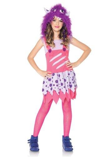 Leg Avenue C48185 - Monster Kostüm mit angebrachter Kapuze, Größe M, rosa/lila
