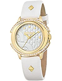 JUST CAVALLI Damen - Armbanduhr DECOR Analog Quarz Leder R7251216504