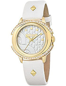 JUST CAVALLI Damen - Armbanduhr DECOR Analog Quarz Leder R7251216504