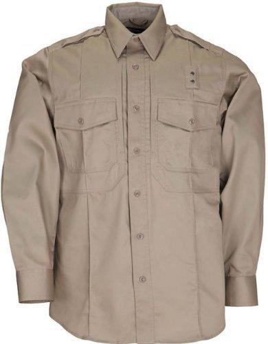 5.11Tactical Langarm Twill Klasse B Shirt Silber Tan (Tan Shirt Twill)