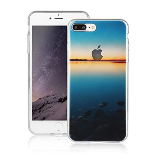 MOONCASE iPhone 7 Plus Coque, Ultra Mince Motif Etui TPU Silicone Antichoc Housse Case pour iPhone 7 Plus (Paysage 07) Paysage 08