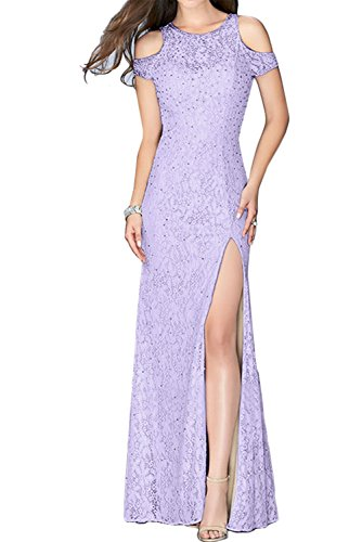 TOSKANA BRAUT Glamour Neu Traeger Paillette Etui Damen Abendkleider Lang Partykleider Schlitz Promkleider Lilac