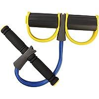 Preisvergleich für Lemon Unisex Bein Fitness Schritt Spring Trainingsgerät Pull Up Trainingsgerät Rowing Action Trainingsgerät mit Griff Widerstand Band Studio Equipment