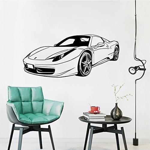 JXYY Ferrari front racing wandaufkleber wandbild PVC wandtattoo transport schlafzimmer dekoration wohnzimmer dekorative kunst poster 57x26 cm (Racing Wandbild)