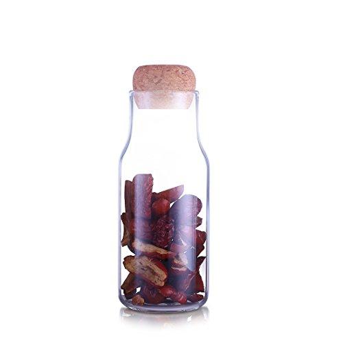 Oneisall Glas-Behälter für Milch Flasche, Multifunktions-borosilicate Vintage-Süßigkeiten-Glas...
