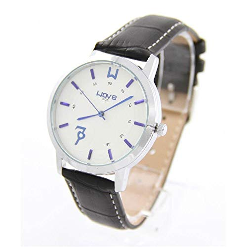 Wave Damen Damen-Armbanduhr mit Armband Leder schwarz Wave 2176