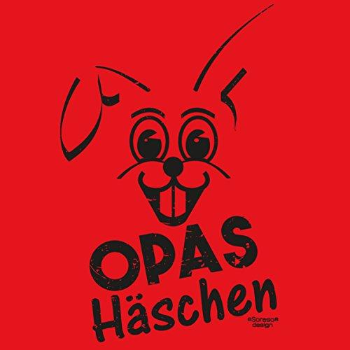 Damen Girlie Hasen Motiv T-Shirt :-: Opas Häschen :-: Geschenkidee für Frauen als Muttertagsgeschenk :-: Geburtstagsgeschenk für Sie :-: Farbe: rot Rot
