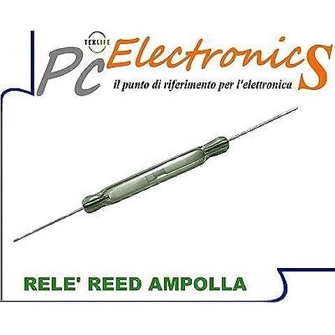 10 PEZZI Relè Reed ad ampolla contatto magnetico effetto hall arduino - (Reed & Barton Vetro Tongs)
