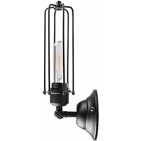 Lampada da parete in stile Vintage, metallo, nero, Gladiator Wall Lamp