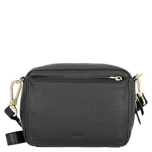 BREE Damen Brigitte 32, Black, Cross Shoulder S19 Umhängetasche, Schwarz, 7x15x20 cm Horizontale Fashion Pouch