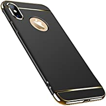 Hishiny Funda iPhone XS MAX, iPhone XS Carcasa 3 in 1 Parachoques Luxury Ultra-