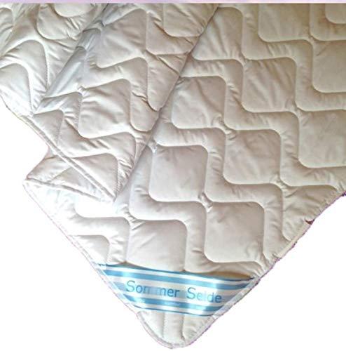 Sommerdecke Bettdecke Wildseide-Baumwolle 155x220 leicht, Füllung 60% Seide und 40% Baumwolle -