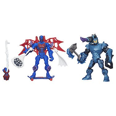 Marvel - Super Hero Mashers - Action Spielfiguren - Spider-Man 2099 vs Rhino