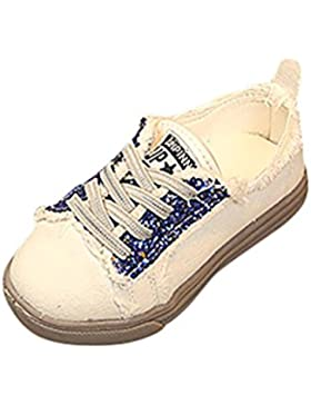 FeiliandaJJ Kinderschuhe Mädchen Jungen 25-30 Kinder Weiche Sohle Schuhe Graffiti Canvas Turnschuhe
