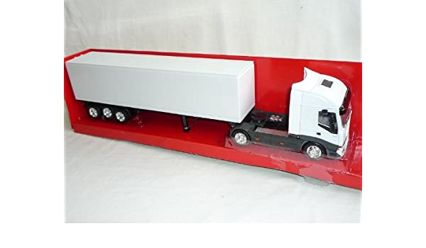 Iveco Stralis Rot 40`Container Trailer Truck LKW 1//32 New Ray Modell Auto mit ..