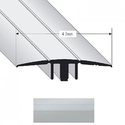 Übergangsprofil Duo Grip 2200 43mm Silber 0,9m von Parkett Direkt - TapetenShop