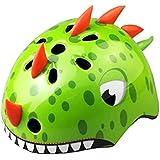 TITST Casco para niños, Edad 2-13 años, Cascos de Dinosaurio 3D de Animales de Dibujos Animados, Ajustable Juventud Niños Niñ