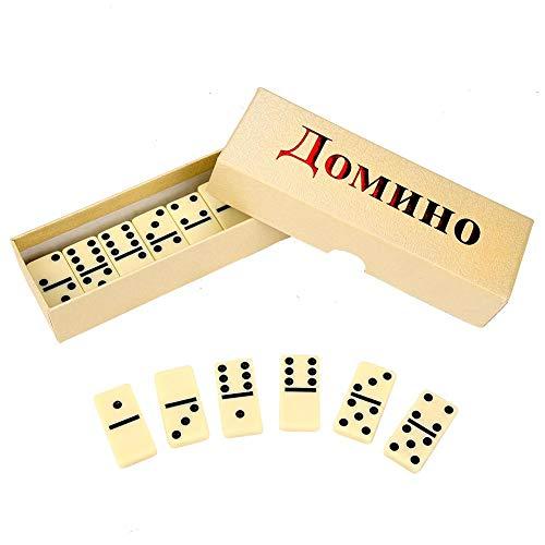 Zerodis 28 Stücke Holz Domino Blöcke   Spielzeug Set Kinder Pädagogisches Interaktives Sicheres Ungiftig Tragbare Holz Domino Blöcke   Spielzeug Set (Holz-block-spielzeug-set)