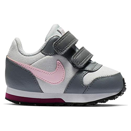 Nike Unisex Baby Md Runner 2 (TDV) Hausschuhe, Mehrfarbig (Pure Platinum/Pink Foam/Cool Grey 017), 22 EU (Nike Mädchen Baby Schuhe)