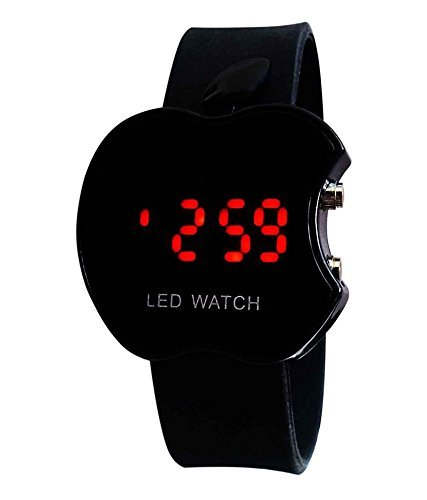 Glory Capture Fashion Apple Shape Touch Screen Led Digital Black Dial Unisex Watch - Cp-07 Balck Apple
