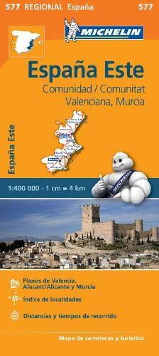 Comunidad Valenciana, Murcia - Michelin Regional Map 577 (Michelin Regional Maps) (Bluetooth Radar)