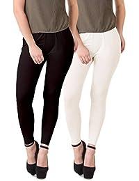HAP Multicolor Cotton Lycra Leggings Multi Combo (pack of 2)