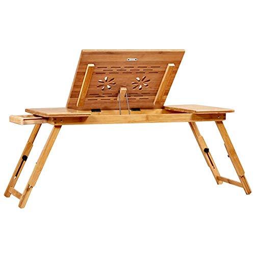 GEXING-Tables Laptop-Tisch Schreibtisch Multifunktion Mit Schublade Einstellbar Studentenwohnheim Bett Sofa 2 Stile,B-72 * 34 * 33cm