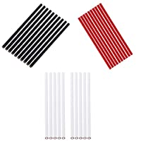 Fenteer 30 Pieces CHINAGRAPH CHINA MARKER PENCILS SET - RED WHITE BLACK COLORS - Write On Plastic Glass Ceramic Surfaces