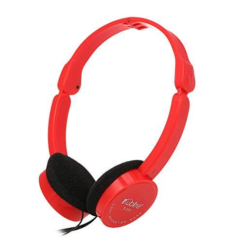 Festnight KUBITE T-111 3,5-mm-verdrahtete Over-Ear-Kopfhörer Faltbarer Sport-Headset Tragbare Musik-Gaming-Kopfhörer mit Mikrofon für Kinder MP4 MP3-Smartphones Laptop Tablet PC (Gaming-tablets Kinder Für)