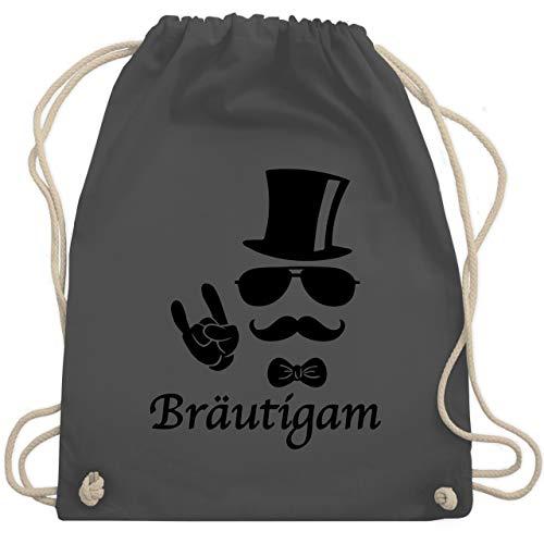 JGA Junggesellenabschied - Bräutigam Hipster Suit up - Unisize - Dunkelgrau - WM110 - Turnbeutel & Gym Bag