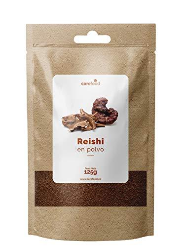 Reishi puro en polvo 125gr 100% Ecológico Carefood | Setas de Ganoderma lucidum de cultivos ecológicos certificados | Superalimento Carefood