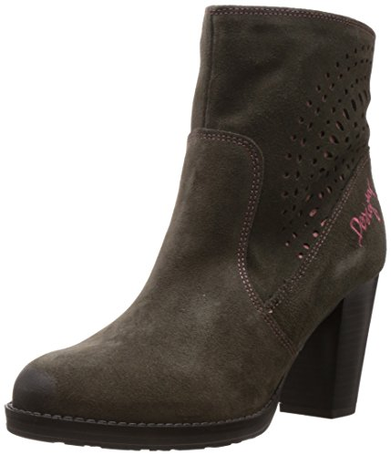Desigual Women's Isabel Brown And Pink Leather Boots - 4 Uk image
